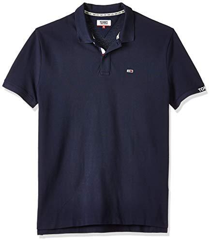 Tommy Hilfiger TJM Rib Polo, Azul (Twilight Navy C87), Small para Hombre