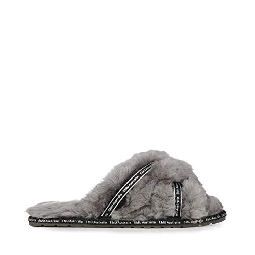 EMU Australia Mayberry Own It Damen-Hausschuhe aus Schaffell, Schwarz - anthrazit - Größe: 42 EU
