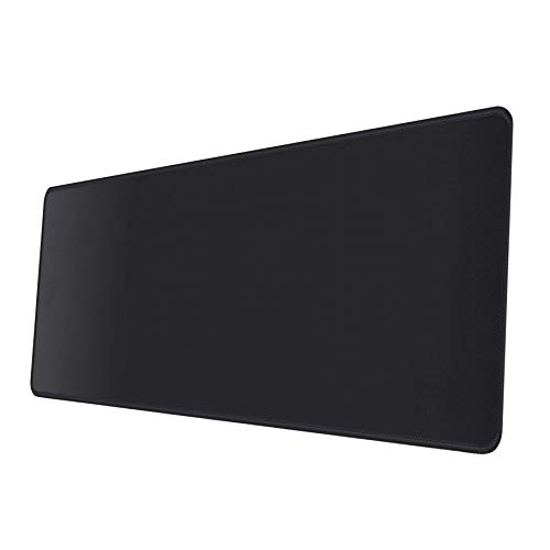 Gimnor Extended Gaming Mouse Pad 31.5x11.8x0.12Inch, with Stitched Edges Premium-Textured Mice Pads Mat, Non-Slip Rubber Base, Large Gaming Mouse pad for Laptop Computer & PC Black