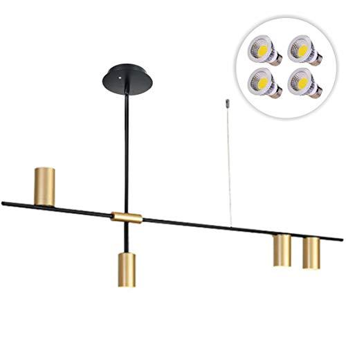 BOKT Gold Modern Ceiling Spotlight Light 4-Lights Adjustable...