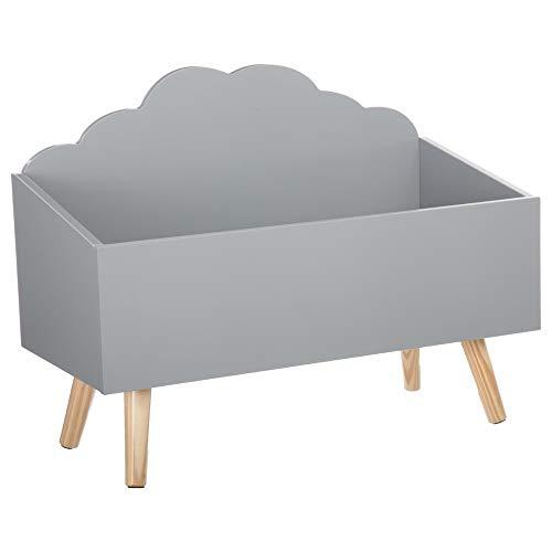 Spielzeugkiste - Wolkenform - Farbe GRAU