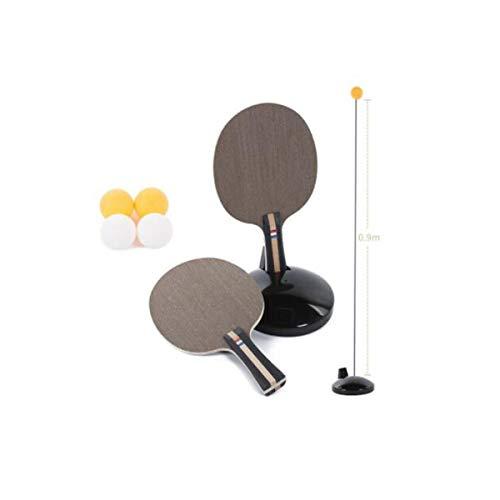 KMDSM Elástica suave del eje Trainer Mesa de ping pong, tenis de mesa máquina de bolas de formación de los hijos adultos, Autoformación Sola bola de Artefacto, hogar de descompresión de ventil