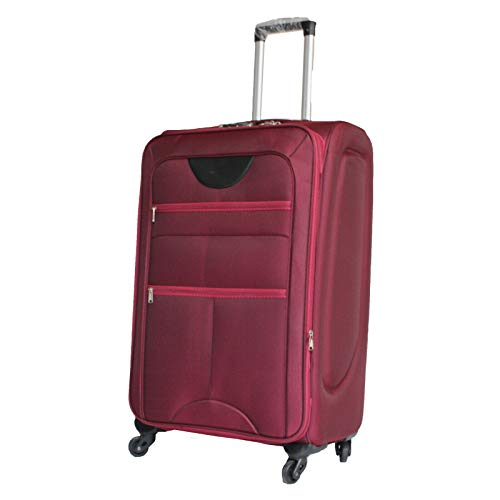 Flymax Cabin Carry on Flight Bag Approved Hand Luggage Case Hold Suitcase 55x35x20 Fits Ryanair Easyjet Jet 2 56x45x25