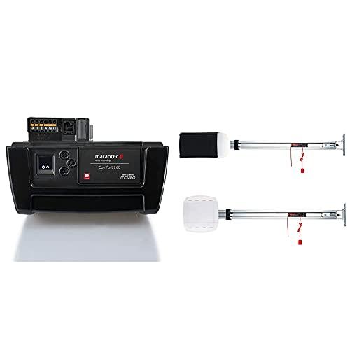 Marantec Comfort 260 Garagentorantrieb, Set inkl. SZ 11 Antriebsschiene, 1 Handsender, elektrischer Torantrieb für Garagentore, Sektionaltore und Schwingtore, Schwarz