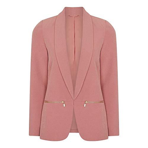 Anastasia Womens roze rand naar rand blazer jas