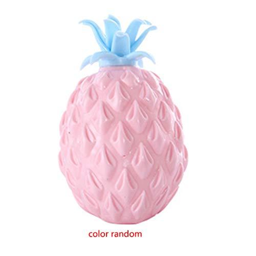 LEVEL GREAT Bonbons Couleur aléatoire Enfants Jouet en Plastique Ananas Forme Décompression Balle Molle Toy Squeezing