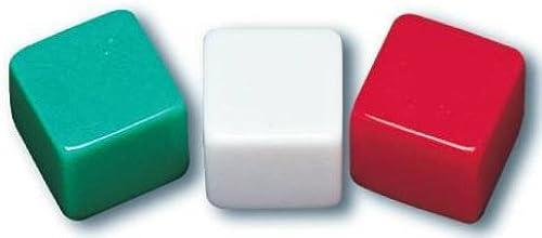 autorización School Smart 089919 - Juego de de de 36 dados en blanco con etiquetas adhesivas, 1 2  x 1 2 , verde, blanco y rojo  liquidación hasta el 70%