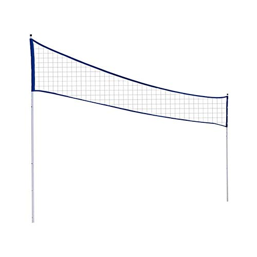 Volleyball Net, Tennis Net, Height Adjustable, Portable Outdoor Badminton Net with Rubber Volleyball No. 5, Pump and Air Needle, Badminton Tennis Volleyball Net for Children Outdoor Sports