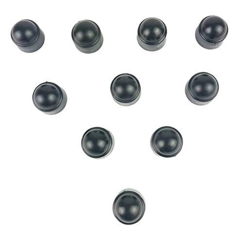 Großhandel Schraubenschutz 10 Set 18mm Auto-Rad-Reifen-Nuss Lug Staubabdeckungen Caps Schutz Hub (Color : Black)