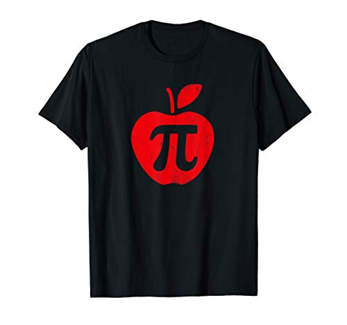 Apple Pi Day Shirt, Funny Math Nerd Pie Teacher 3.14 Tshirt T-Shirt