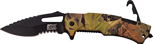 MTech USA Xtreme Couteau de Poche Camo Militaire G10 poignée avec Crochet de Sauvetage escamotable en Taille couler cm : 12,065, mtec de 1135