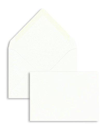 100 Stück, Briefumschläge, DIN C7, Nassklebung, Spitze Klappe, 100 g/qm Offset, Ohne Fenster, Weiß, Blanke Briefhüllen