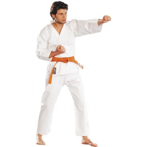 Karate 9oz 100% cotón Uniforme de Karate blanco (3/160cm)