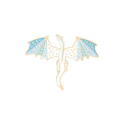 Flying Dragon Enamel Pins Myth Dinosaur Brooches Bag Clothes Lapel Pin Badge Animal Jewelry Gift-Style1