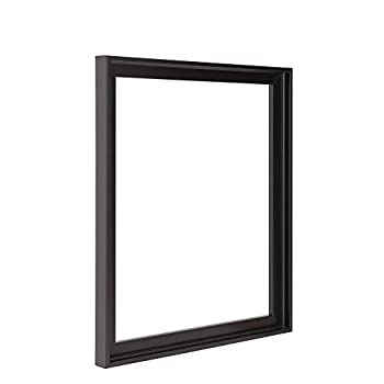 30x40 Floater Frame for Canvas Paintings Wood Panels Canvas Panels & Stretched Canvas Boards Floating frame fits 5/8  3/4  & max 7/8  Deep Artwork & Mounted Photo Prints  Black 30 x 40 inch