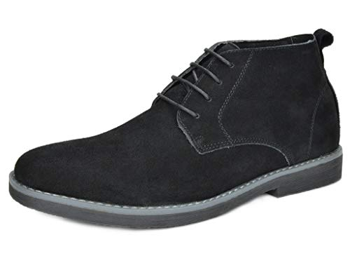 Bruno Marc Men's Chukka Black Suede Leather Chukka Desert Oxford Ankle Boots – 12 M US