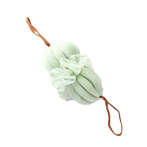 Éponge de douche exfoliante en maille pour le dos - Pour le corps, la fleur - Accessoire de salle de bain - En nylon - Vert clair