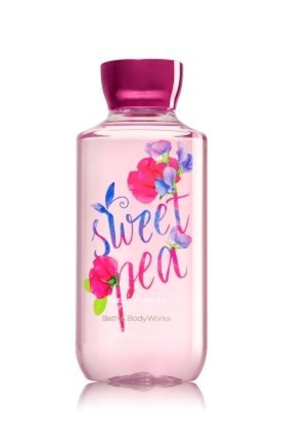 海藻全体ウッズ【Bath&Body Works/バス&ボディワークス】 シャワージェル スイートピー Shower Gel Sweet Pea 10 fl oz / 295 mL [並行輸入品]