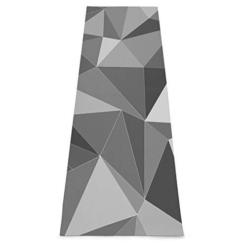 Esterilla de yoga geométrica negra antideslizante Yoga Mat ejercicio y fitness Mat para yoga, pilates, casa gimnasio piso entrenamiento Mat