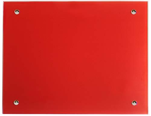 Jollytherm Infrarot Glasheizkörper 55x70cm 500W Heizpaneel, Farbe:rot