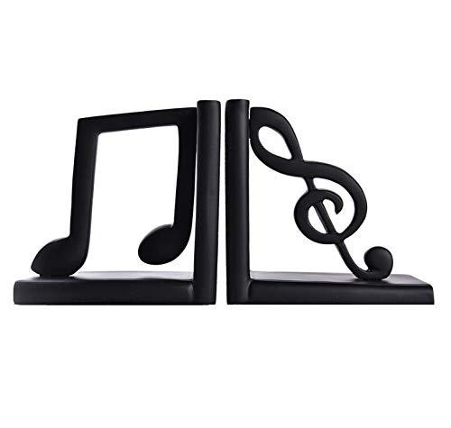 Sujetalibros Sujetalibros nota musical 5,5 × 2,7 × 5,5 pulgadas Clásico Resina decorativo estante de libro organizadores hechos a mano Manos libro tapón El Libro Termina