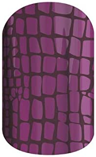 After Awhile - Jamberry Nail Wraps - 27A7 - Full Sheet - Purple Crocodile Alligator Print