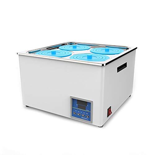 Laborwasserbad, digitales Thermostat-Wasserbad, 4-Loch-Elektroheizungs-Thermostat-Wasserbad aus rostfreiem Stahl, RT bis 100 ° C, Zeitsteuerungsfunktion, 800 W, für Labor-Handel