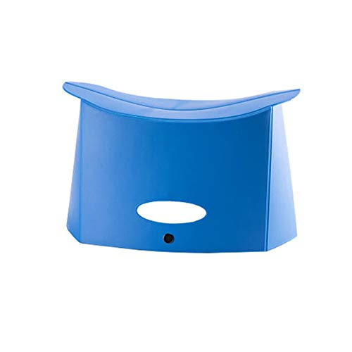 Tang Yuan Vikbar pall trappstol – 120 kg kapacitet bärbar fällbar pall, lämplig för familj, utomhus, resor blå