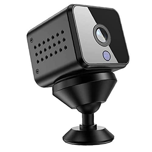 FeelMeet cámara de vigilancia de Seguridad portátil Mini cámara de Alta definición Wi-Fi inalámbrica para el hogar Interior Negro Oficina de los Apartamentos