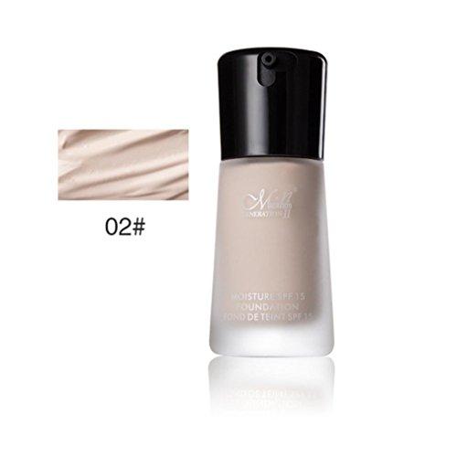 1PC Fond de teint liquide anti-cernes Matte Oil Control Long Lasting BB Creme (#02)