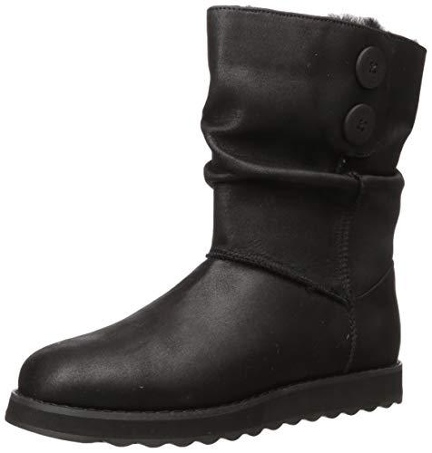 Skechers Damen Keepsakes 2.0-Upland-Mid Big Button Slouch Boot Halblange Stiefel, schwarz, 39 EU