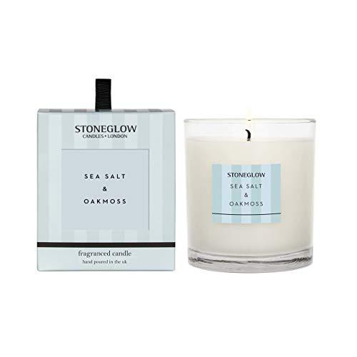 Stoneglow Modern Classics Kerze im Glas, Verschiedene Düfte - Modern Classics New - Seasalt & Oakmoss Candle
