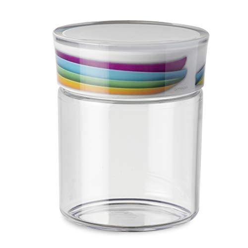 Omada Design Jarra de plástico 0.75L, sello hermético con junta y decoración indeleble, línea Plexart