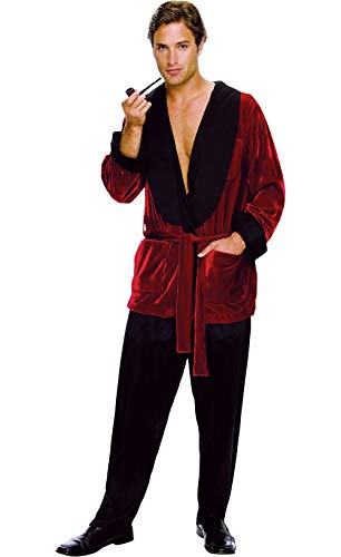 Image result for Secret Wishes Men's Playboy Smoking Jacket, Hef, Standard