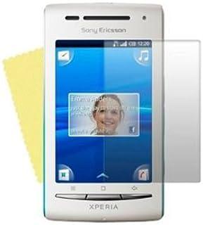 Hi-Tec [5-pack] Sony Ericsson XPERIA X8 genomskinligt skärmskydd med rengöringsduk