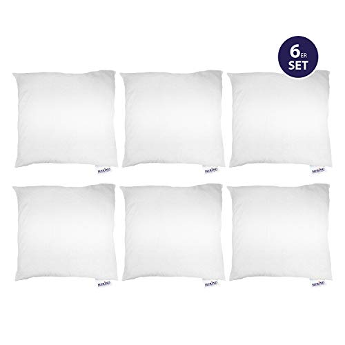 Merino-Betten 6er Set Kissen 60x60 | Kopfkissen | Sofakissen | Füllkissen mit Reißverschluss (weitere verfügar)