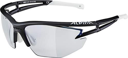 Alpina Sonnenbrille Pro Line EYE-5 HR VLM+ Outdoorsport-brille, Black Matt-White, One Size