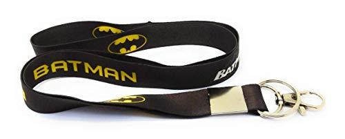 MJ Ragav Batman Logo Fabric Hook Keyring Keychain for Bikes,car ,Lanyard Id Card Holder, etc. (Black)