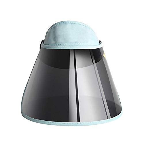 Yuxahiugtym Beach Sombreros para Mujer Verano Visera De Sol, Casual Protección UV De Plástico del Casquillo Protector Solar Sombrero, Unisex PVC Parasol Sombrero De Bicicletas Sunhat (Color : D)