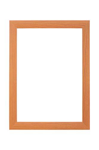 EUROLine35 mm Bilderrahmen für 55 x 112 cm Bilder, Farbe: Kirschbaum, inkl. entspiegeltem Acrylglas und MDF Rückwand, Rahmen Breite: 35 mm, Außenmaß: 60,8 x 117,8 cm
