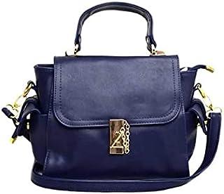 حقيبة للنساء-كحلي داكن - حقائب طويلة تمر بالجسم