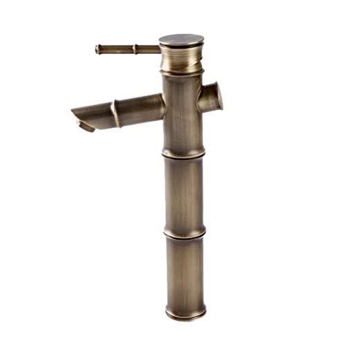 Fregadero de baño lavabo lavabo de lavabo única palanca cromo grifo antiguo cobre fregadero frío fregadero grifo rotativo lavavajillas lavaplatos fregadero grifo (color: latón) Grifo ( Color : Brass )