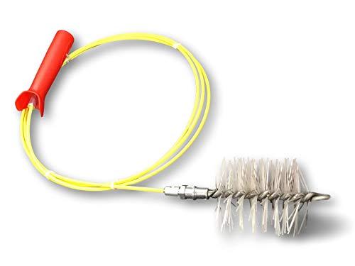 KIBROS 4KIT8S | Schoorsteenset voor pelletkachels en granulaat | egelborstel | diameter 80 mm | pijpleidingen, regengoot, ventilatieslangen, geel/rood