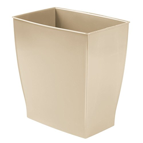 iDesign Mono BPA-Free Plastic Rectangular Waste Basket - 11