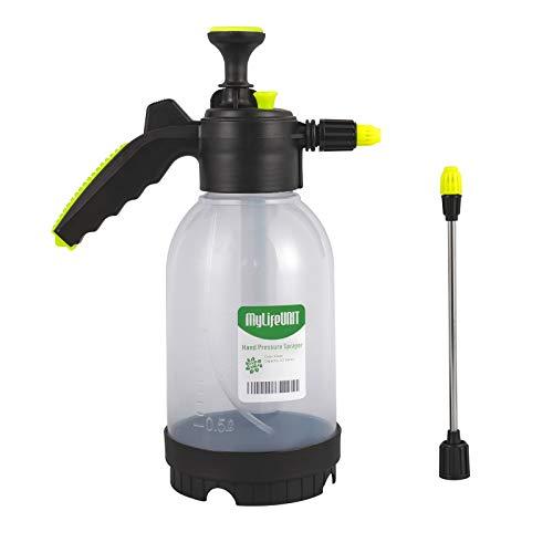 MyLifeUNIT Garden Sprayer, Pump Pressure Sprayer with Extension Wand and Adjustable Pressure Nozzle, 68 OZ