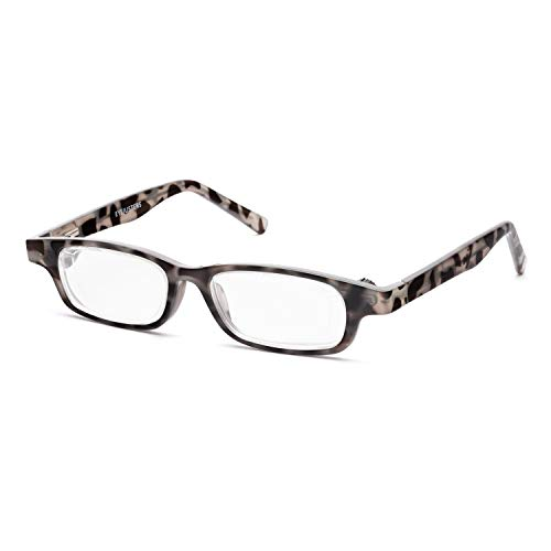 Eyejusters Self-Adjustable Glasses, Oxford Edition, Gray Tortoise