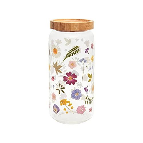 Sass & Belle - Barattolo in vetro con fiori pressati