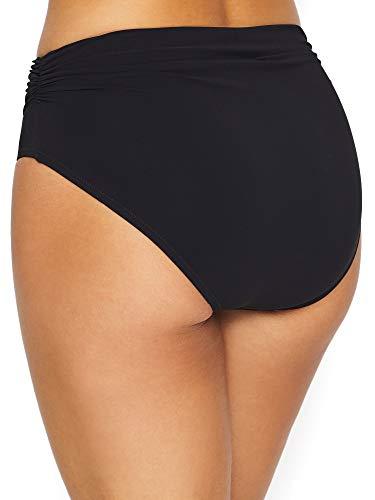 Profile by Gottex Women's Ruched High Waist Swimsuit Bottom, Tutti Frutti Black, 14