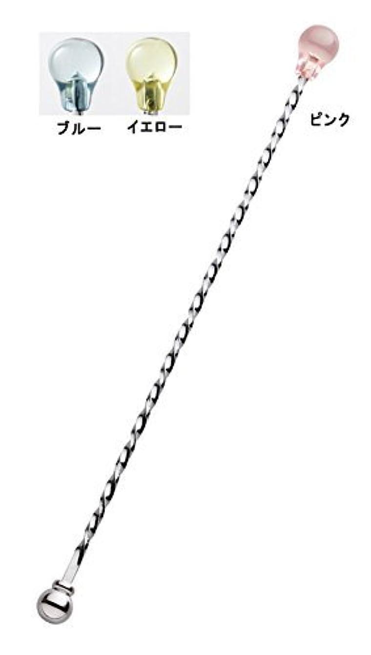 のぞき穴リップ印象派SALUS ねじりスケルトン マドラーピンク