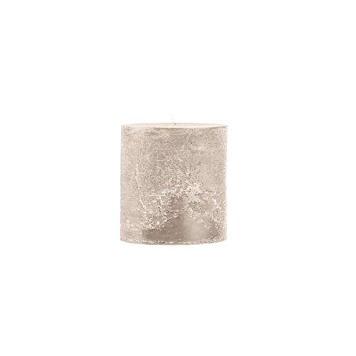 Rustico durchgefärbte, strukturierte Stumpenkerze 100/100mm stein   Brenndauer: ca. 80 Std   Original von Steinhart